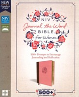 NIV Comfort Print Journal the Word Bible for Women, Leathersoft, brown/pink  - Imperfectly Imprinted Bibles
