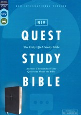 NIV Quest Study Bible, Comfort Print--soft leather-look, black