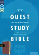 NIV Quest Study Bible, Comfort Print--soft leather-look, brown (indexed)