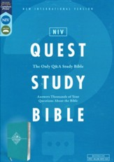 NIV Quest Study Bible, Comfort Print--soft leather-look,  turquoise