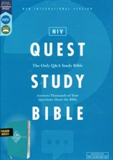 NIV Quest Study Bible, Comfort Print--soft leather-look, turquoise (indexed)
