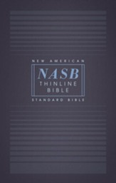 NASB Comfort Print Thinline Bible, Red Letter Edition--softcover