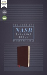 NASB Comfort Print Thinline Bible,  Red Letter Edition--bonded leather, burgundy