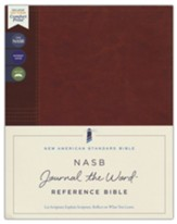 NASB Journal the Word Reference  Bible, Comfort Print, 1995--soft leather-look over board, brown (red letter)