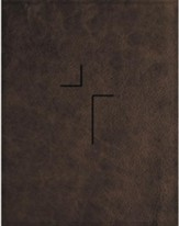 NIV Comfort Print Jesus Bible--soft leather-look, brown (indexed)