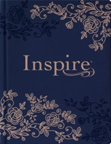NLT Inspire Bible: The Bible for  Coloring & Creative Journaling--hardcover, navy