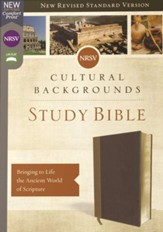 NRSV, Cultural Backgrounds Study Bible, Leathersoft, Tan and Brown, Comfort Print