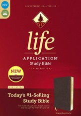 NIV Life Application Study Bible,  Third Edition--bonded leather, burgundy