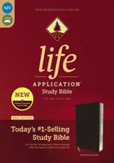 NIV Life Application Study Bible, Third Edition--bonded leather, black - Slightly Imperfect