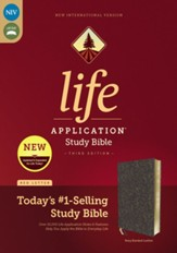 NIV Life Application Study Bible,  Third Edition--bonded leather, navy floral