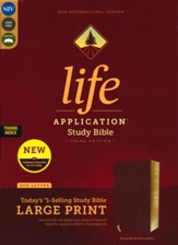 NIV Life Application Study Bible, Third Edition, Large Print, Bonded Leather, Burgundy, Indexed