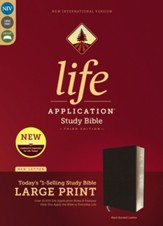 NIV Life Application Study Bible,  Third Edition, Large Print, Bonded Leather, Black