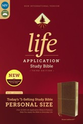 NIV Life Application Study Bible, Third Edition, Personal Size, Leathersoft, Brown