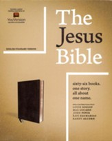 The Jesus Bible, ESV Edition,  Leathersoft, Black