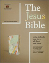 The Jesus Bible, ESV Edition--soft  leather-look, multi-color/teal