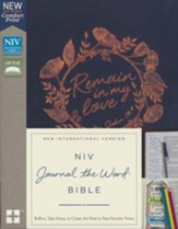 NIV Journal the Word Bible--cloth over board, navy