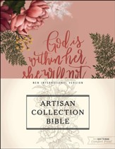 NIV Artisan Collection Bible--cloth over board, pink floral