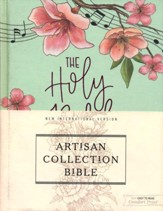 NIV Artisan Collection Bible--cloth over board, turquoise floral - Imperfectly Imprinted Bibles