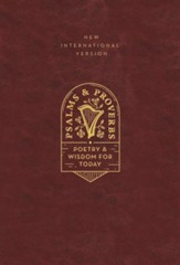 NIV Psalms and Proverbs, Comfort Print--imitation leather burgundy over board