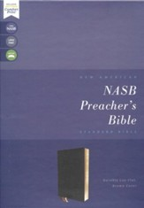 NASB Comfort Print Preacher's Bible--premium goatskin, black (Premier Collection)
