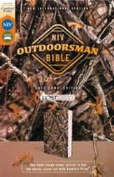 NIV Outdoorsman Bible, Comfort Print--soft leather-look, camouflage