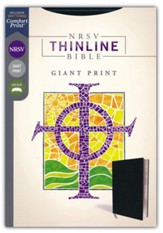 NRSV Thinline Bible, Giant Print,  Comfort Print, Leathersoft, Black