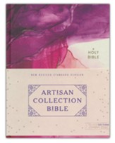 NRSV Artisan Collection Bible, Art Gilded Edges, Comfort Print, Cloth over Board, Pink