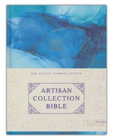 NRSV Artisan Collection Bible, Art Gilded Edges, Comfort Print, Cloth over Board, Blue