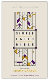 NRSV Simple Faith Bible, Comfort Print, hardcover