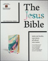 NIV, The Jesus Bible Comfort Print--soft leather-look, teal/multicolor