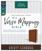NIV Verse Mapping Bible--soft leather-look, brown