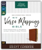 NIV Verse Mapping Bible--soft leather-look, brown (indexed)