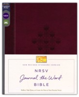 NRSV Journal the Word Bible, Comfort Print, Leathersoft, Burgundy