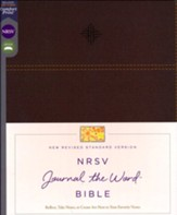 NRSV Journal the Word Bible, Comfort  Print, Leathersoft, Brown