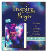 NLT Inspire PRAYER Bible: The Bible for Coloring & Creative Journaling, Softcover