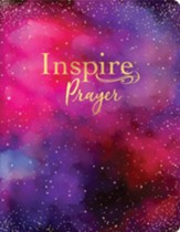 NLT Giant-Print Inspire PRAYER  Bible: The Bible for Coloring & Creative Journaling--soft leather-look, purple