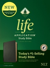 NLT Life Application Study Bible, Third Edition--black genuine leather, red-letter (indexed)