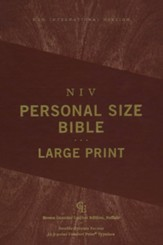 NIV Large-Print Personal-Size Bible,  Comfort Print--genuine buffalo leather, brown