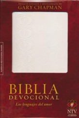 Biblia devocional: Los lenguajes del amor - Duotono blanco, Love Languages Devotional Bible, Spanish Edition--imitation leather, white - Slightly Imperfect