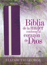 Biblia de la mujer conforme al  corazon de Dios RVR 1960, Morado (The Bible for Women After God's Own Heart, Purple)