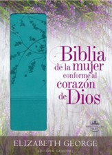 Biblia de la Mujer Conforme al Corazon de Dios, RVR 1960, Aqua  (Bible for Women After God's Own Heart, RVR 1960, Turquoise) - Slightly Imperfect