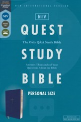 NIV Personal-Size Quest Study Bible, Comfort Print--soft leather-look, blue