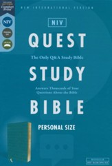 NIV Personal-Size Quest Study Bible, Comfort Print--soft leather-look, teal