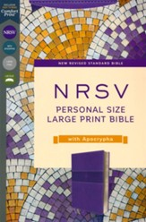 NRSV Large-Print Personal-Size Bible with Apocrypha, Comfort Print--soft leather-look, purple