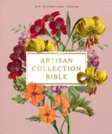 NIV Artisan Collection Bible,  Comfort Print--soft leather-look, blush floral