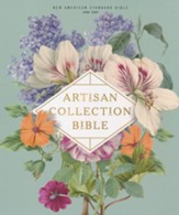 NASB 1995 Artisan Collection Bible,  Comfort Print--soft leather-look, sage floral