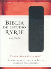 Biblia de Estudio Ryrie Ampliada RVR 1960, Duotono Negro, Ind.  Bible, Black Duo-tone with Index)