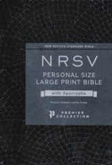 NRSV Personal-Size Large-Print Bible  with Apocrypha, Premier Collection, Comfort Print--premium goatskin leather, purple