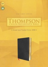 KJV Thompson Chain-Reference Bible--bonded leather, black