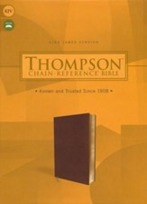 KJV Thompson Chain-Reference Bible--soft leather-look, brown